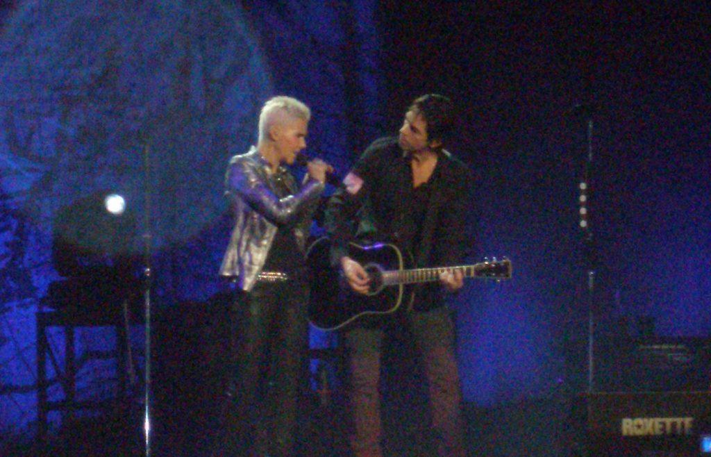 Actuación de Marie Fredriksson con Per Gessle. Madrid 2011