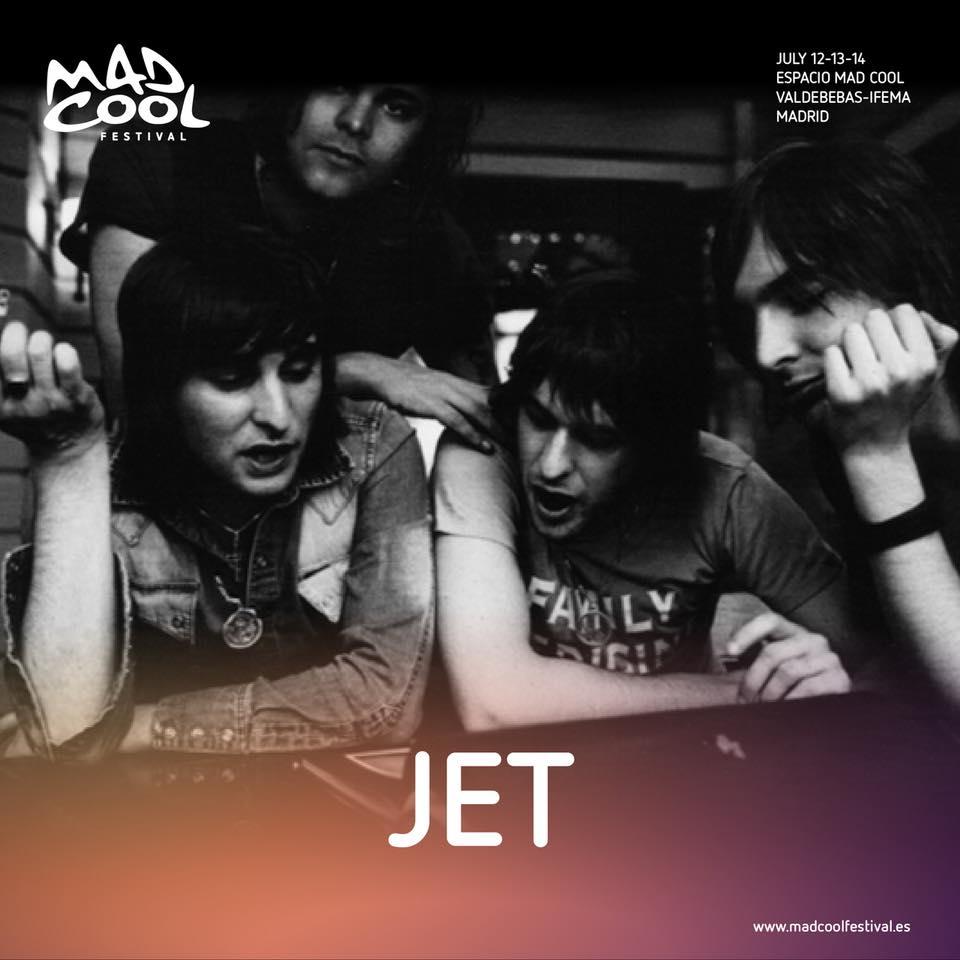 Jet, destacados en el cartel del Mad Cool 2018