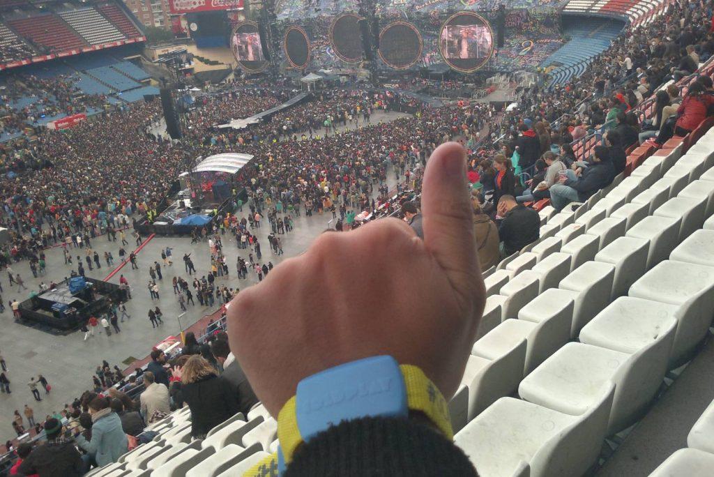 Coldplay en Concierto de 2012. Madrid
