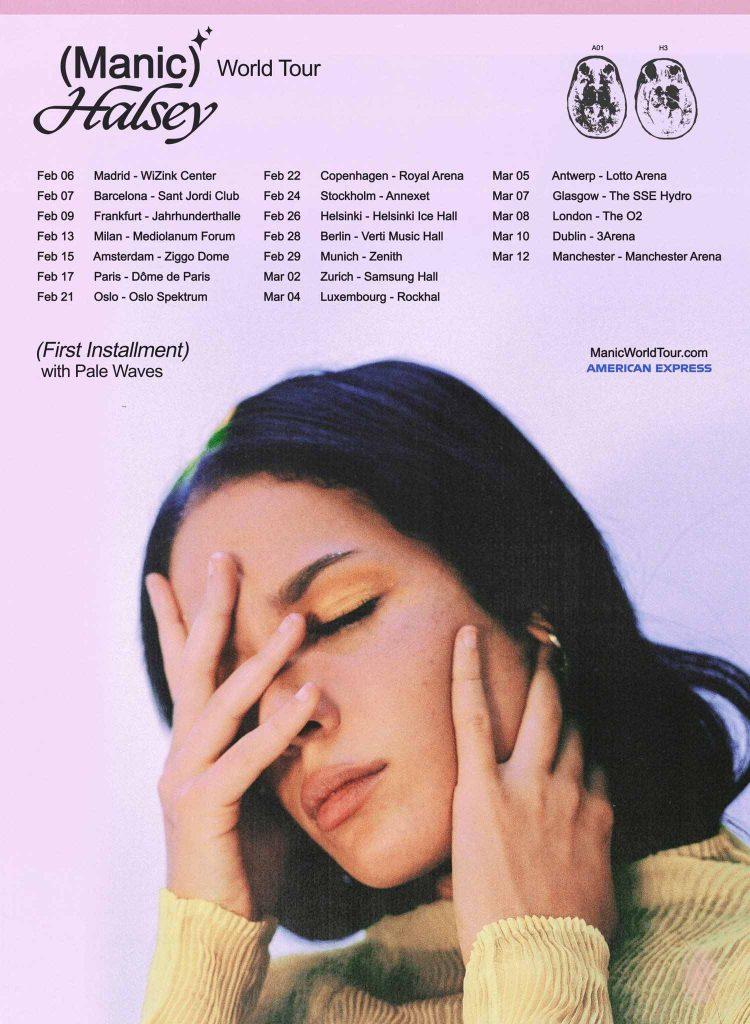 Cartel de la gira mundial de Halsey