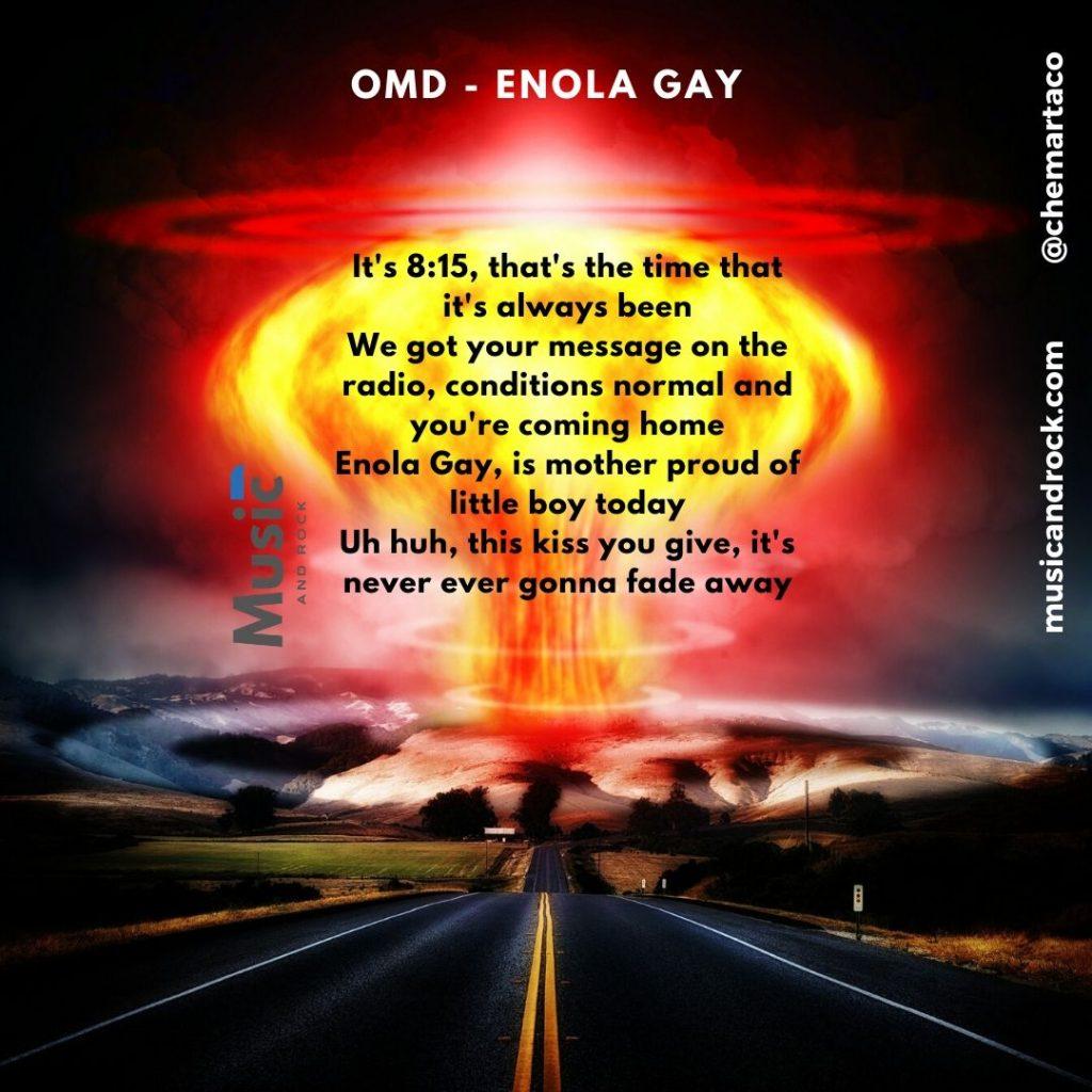 Letra de Enola Gay