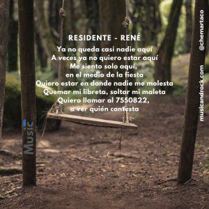 Letra de René de Residente