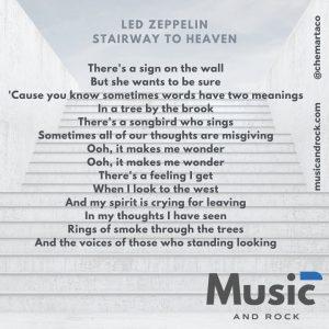 Letra para instagram Led Zeppelin Stairway to heaven