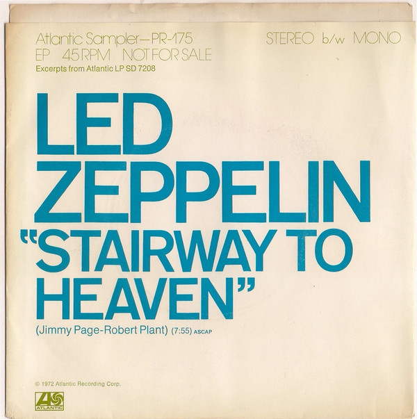 El single radiofónico de Stairway to heaven