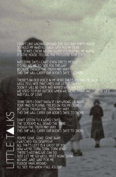 Letra de Little Talks de Of Monsters and Men