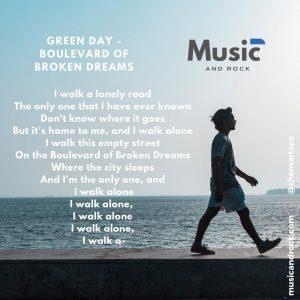 Tip instagram Green Day Boulevard of broken dreams de Green Day