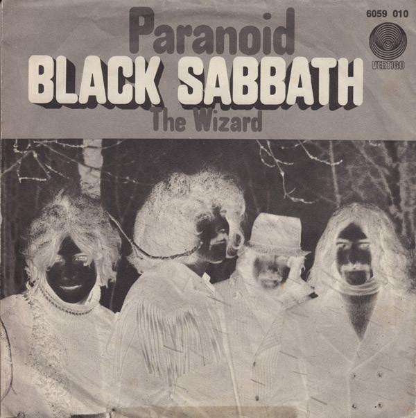 Single de Black Sabbath Paranoid 1970