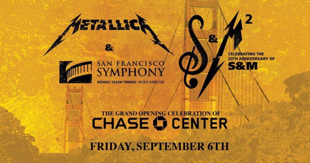 Cartel anunciador del concierto de Metallica y la Sinfónica de San Francisco