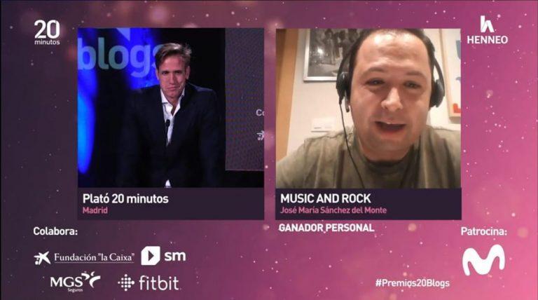 Lee más sobre el artículo Music and Rock, Premio al Mejor Blog Personal de los Premios 20Blogs de 20minutos