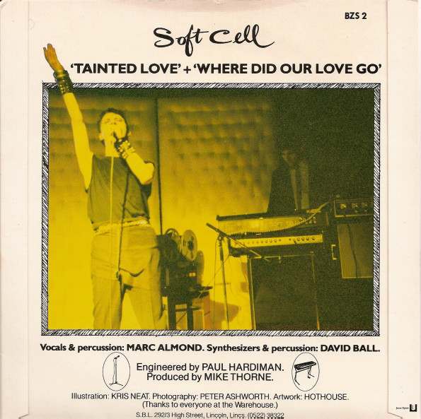 Contraportada del single Tainted Love de oft Cell