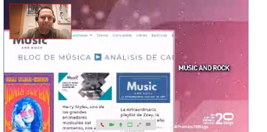 Music and Rock, en el video de finalistas de la gala de los Premios 20Blogs