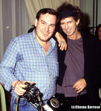 Domin y Keith Richards. Foto de Chema Barroso